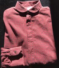 Paul Smith Mainine Grey/Red Check Shirt Size 16.5/42 EU Round Collar