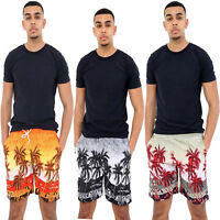 Mens Hawaiian Swim Shorts Swimming Beach Palm Tree Holiday Sports Mesh Trunks