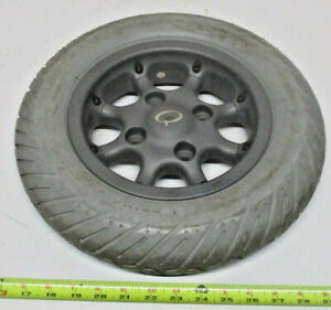 """Quickie 14""""x3"""" (3.00-8) Flat-Free Drive Wheels Groove Pulse Freestyle Wheelchair"""