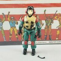 Original 1986 GI Joe LIFT TICKET V1 UNBROKEN figure Complete Repro Mic Tomahawk