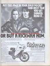 Rickman Safe And Sound Motorcycle 1974 Mag Advert #2695
