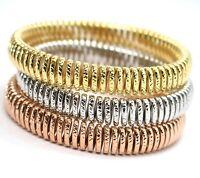 Armband Gold 750 18K, Gelb Oder Weiß Oder Pink,Halbstarr,Arbeitete,Elastische