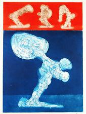 """""""Dynamische Figuren"""" 1969. Radierung Rudolf HOFLEHNER (1916-1995 A) handsigniert"""