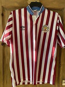 Manchester City 1988/89 Vintage Rare Umbro Away Shirt Adult Large 1989 ORIGINAL