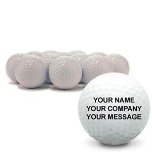 1 Dozen Custom Printed Text or Logo Blank White Brand New Golf Balls