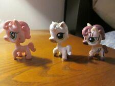 3  Littlest pet shop ponies/horses