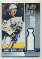 2019-20 Upper Deck Series 1 UD Game Jersey Rasmus Ristolainen Buffalo Sabres