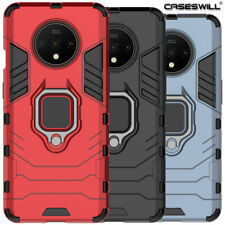 For OnePlus 7T 7 Pro 6T Case Caseswill Rugged Hybrid Armor Ring Stand Hard Cover