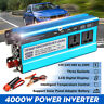 4000W Car Solar Power Inverter DC 12/24/48V To AC 220V Sine Wave Converter LED
