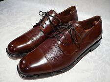 BOSTONIAN MEN'S OXFORDS BROWN LEATHER SHOES SIZE 12 M MADE IN ITALY
