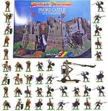 Britains Deetail Castle Assault Bundle - 45 painted knights, castle & trebuchet