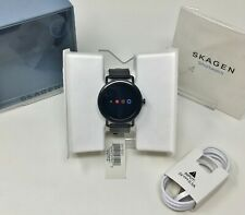 Skagen® Men's Falster Touchscreen Smart Watch, 20mm Black Leather Strap SKT5001