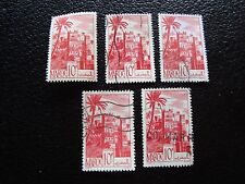 MAROC - timbre yvert et tellier n° 260A x5 obl (A29) stamp morocco