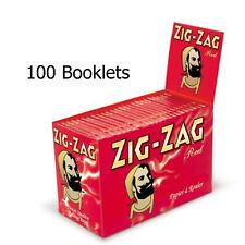 ZIG ZAG Red Skins Regular Rolling Cigarette Paper x 100 booklets FULL BOX