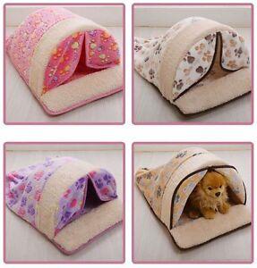 New Indoor Pet Dog Cat House Sleeping Bag Sofa Bed House Mat Cushion Size S,M