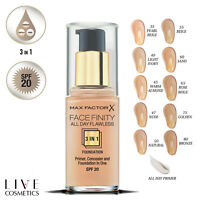 MAX FACTOR FACEFINITY 3IN1 ALL DAY FLAWLESS FOUNDATION 30ML *CHOOSE YOUR SHADE*