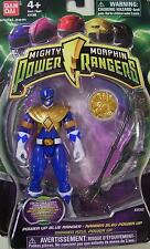 "Mighty Morphin Power Rangers Blue 4"" Power Morpher Coin New Factory Sealed 2010"