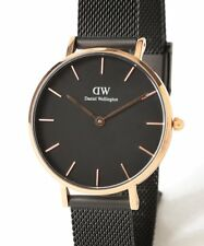 Daniel Wellington Classic Rose Gold Petite Ashfield Black Mesh 32mm Ladies Watch