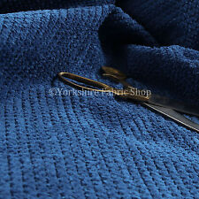 Plush New Blue Super Fluffy Textured Cord Quality Durable Upholstery Material