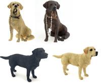 Golden Black Chocolate Labrador Dog Ornament Decoration Figure Walkies Standing