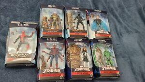 Marvel Legends Series Spider-Man Far From Home Molten Man BAF Lot of 7 Complete