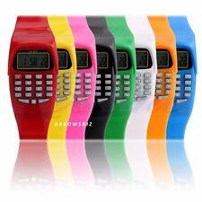 Reloj de Pulsera Calculadora KK-907 Digital LED Hombre Mujer Niños Escuela Chicos Chicas UK