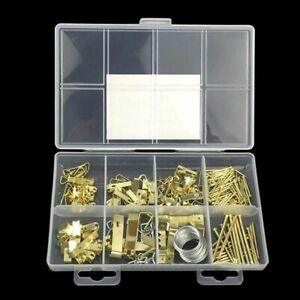 Assorted Picture Hanging Kit  200 Piece Assortment with Wire Picture Hanger Hook