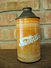 "RARE ORIGINAL 12 oz. Nesbitt's Orange Cone Top Soda Can ""from real oranges"""