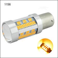 2X BA15S P21W 1.7A 12V-24V No Hyper flash CANBUS Error Free Turn led light Amber