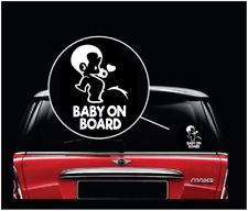 Peeing Boy Baby on Board Sticker - Funny Cute Safety Caution Decal Sign for Cars