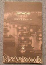 Hitachi Mobilized Computing Remote Control User's Manual E Series Instructions