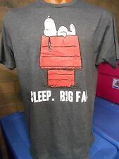 Mens Licensed Peanuts Snoopy Sleep. Big Fan Shirt New XL