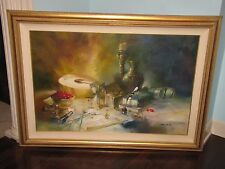 "Michael Gorban Original Oil Painting Canvas 30""x46"" Signed Still Life"