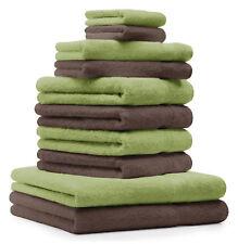 10-tlg. Handtuch Set Classic - Premium, Farbe: Apfel-Grün & Nuss, 2 Seiftücher 3