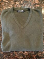 Native World wool-possum-silkV-neck pullover sweater Size-L Color-Forest Green