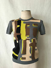 """NWT. DSQUARED 2 with Abstract Design Crewneck Sweater. M. Bust 34"""" Made in italy"""