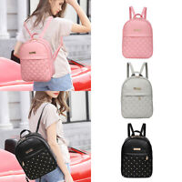 Fashion Women PU Leather Backpack Casual Travel Bead Travel School Backpack Bag