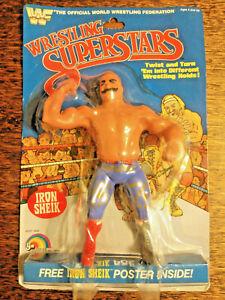 1985 LJN TITAN SPORTS WWF IRON SHEIK WRESTLING FIGURE NOC