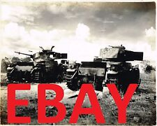 WWII HUGE 16X20 PHOTOGRAPH OF DESTROYED JAPANESE TANKS IN THE PACIFIC CLOSE UP