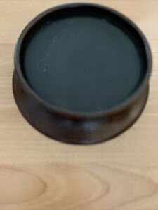 """Pottery Barn Potterybarn 8 1/4"""" Round Turned Wood Candle Tray  Pillar Candle"""