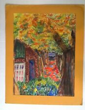 "ORIGINAL 1960s PASTEL ""Fall Canopy"" ATTRIBUTED to OHIO ARTIST Ann Heidt"