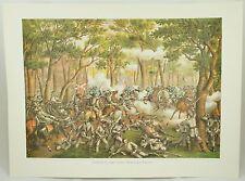 Battle of the Wilderness Vintage Civil War Kurz & Allison Lithograph Folio Print