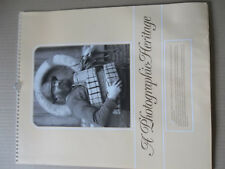 PHOTOGRAPHIC HERITAGE 1988 CALENDAR FRANK MEADOW SUTCLIFFE YORKSHIRE