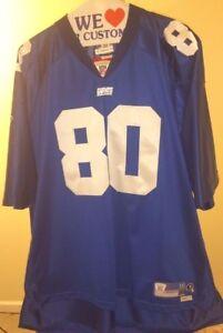 New York Giants NFL Classic Reebok Blue Jeremy Shockey #80 3XL Jersey