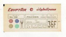 VINTAGE EGYPTAIR Egypt Air TICKET Flight CAIRO NEW YORK Egyptian AFRICA Airline