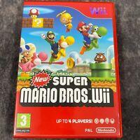 New Super Mario Bros Nintendo Wii PAL Game Complete Kids Family Fun Platformer