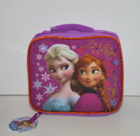 Disney Frozen Elsa Anna Canvas Insulated Lunch Bag Box New