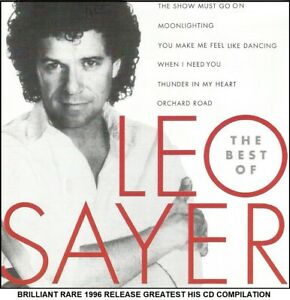 Leo Sayer - The Very Best Greatest Hits Collection - RARE 1996 70's 80's Pop CD