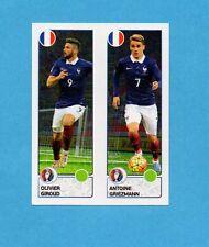 PANINI-EURO 2016-Figurina n.42- GIROUD+GRIEZMAN - FRANCIA -NEW BLACK