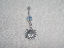 Celestial Sun Zodiac Charm Belly Button Navel Ring Body Jewelry Piercing